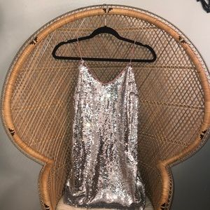 Sequin mini dress, size small, new with tags